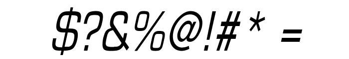 Eurasia Condensed Italic Font OTHER CHARS