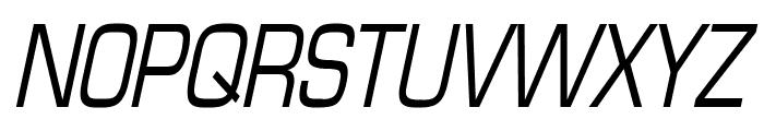 Eurasia Condensed Italic Font UPPERCASE