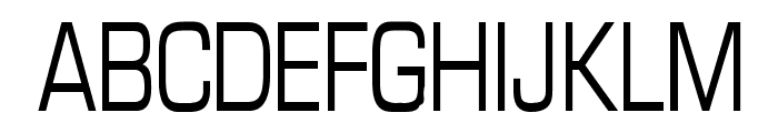 Eurasia Condensed Normal Font UPPERCASE