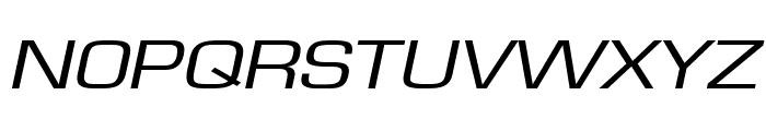 Eurasia Extended Italic Font UPPERCASE