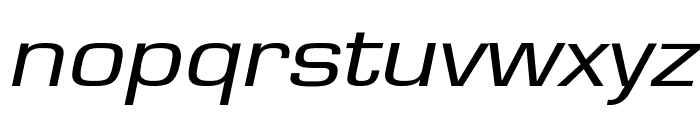 Eurasia Extended Italic Font LOWERCASE