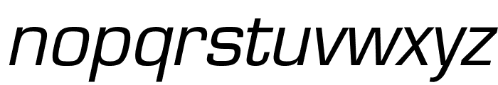 Eurasia Italic Font LOWERCASE