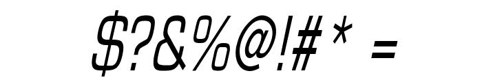 Eurasia Thin Italic Font OTHER CHARS