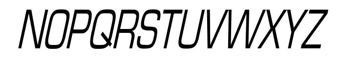 Eurasia Thin Italic Font UPPERCASE