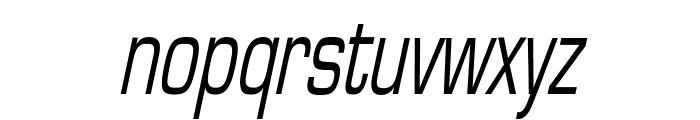 Eurasia Thin Italic Font LOWERCASE