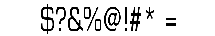 Eurasia Thin Normal Font OTHER CHARS