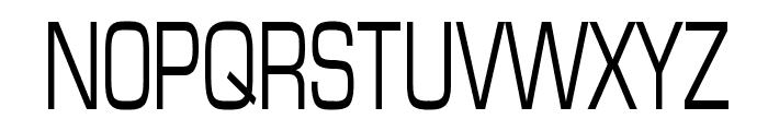 Eurasia Thin Normal Font UPPERCASE