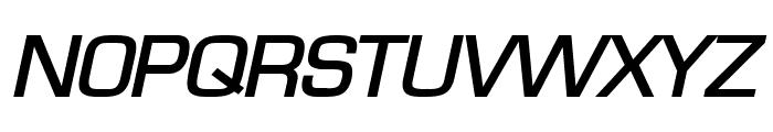 Eurasia Wide BoldItalic Font UPPERCASE