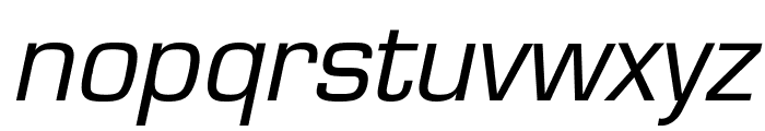 Eurasia Wide Italic Font LOWERCASE