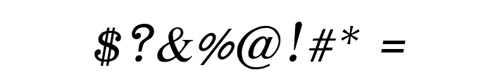 EucrosiaUPC Italic Font OTHER CHARS