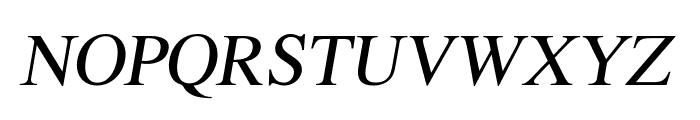 EucrosiaUPC Italic Font UPPERCASE