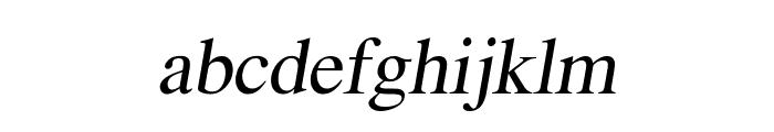 EucrosiaUPC Italic Font LOWERCASE