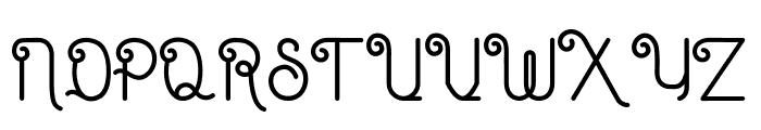 Eugiene script Font UPPERCASE