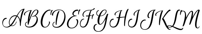 Euphoria Script Font UPPERCASE