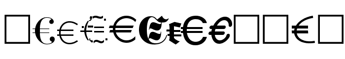 Euro Collection Font UPPERCASE
