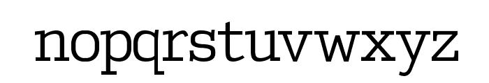 EuropeanTypewriter Font LOWERCASE