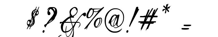 Eutemia I Italic Font OTHER CHARS