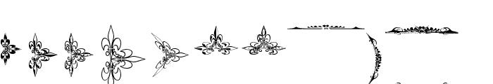 Eutemia Ornaments Font LOWERCASE