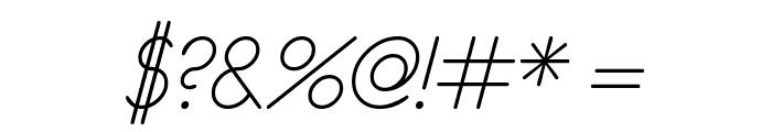 eurofurence light  italic Font OTHER CHARS