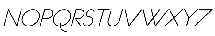 eurofurence light  italic Font UPPERCASE