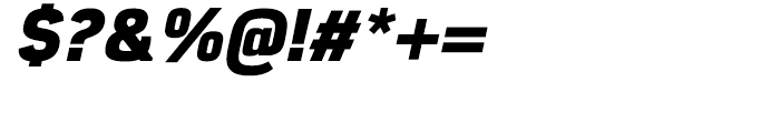 Eund Heavy Italic Font OTHER CHARS