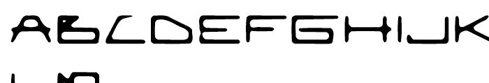 EuroMachina BT Eroded Font UPPERCASE