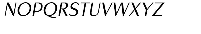 EuroSans Light Oblique Font UPPERCASE