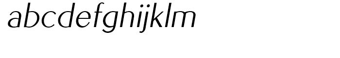 EuroSans Light Oblique Font LOWERCASE