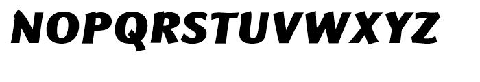 Eurocrat Black Italic Font UPPERCASE