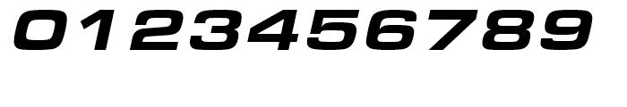 Eurostile Black Extended Italic Font OTHER CHARS