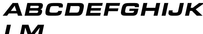 Eurostile Black Extended Italic Font UPPERCASE