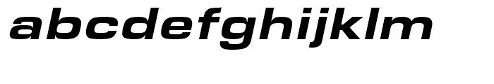 Eurostile Black Extended Italic Font LOWERCASE
