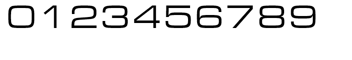 Eurostile Regular Extended Font OTHER CHARS