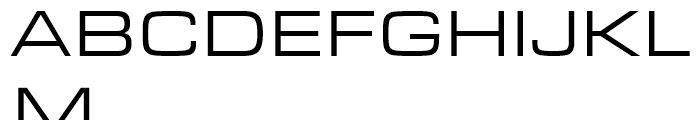 Eurostile Regular Extended Font UPPERCASE