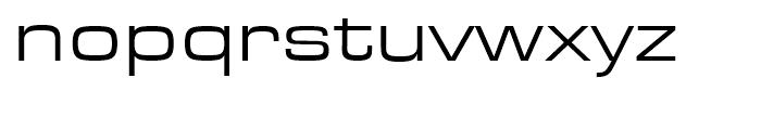 Eurostile Regular Extended Font LOWERCASE