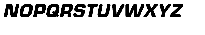 Eurostile Round Black Italic Font UPPERCASE