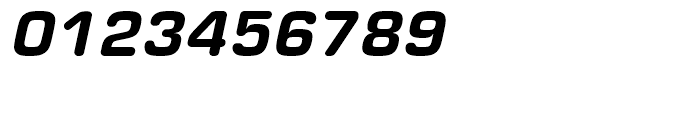 Eurostile Round Heavy Italic Font OTHER CHARS