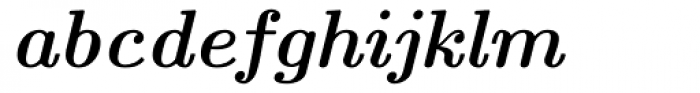 Euclid Bold Italic Font LOWERCASE