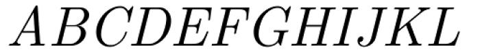 Euclid Italic Font UPPERCASE