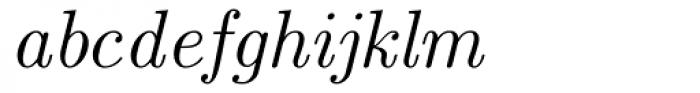 Euclid Italic Font LOWERCASE