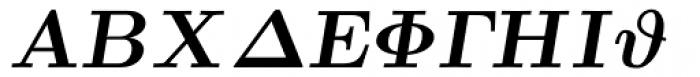 Euclid Symbol Bold Italic Font UPPERCASE