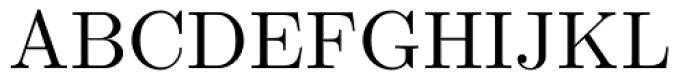 Euclid Font UPPERCASE