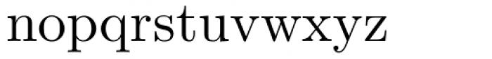 Euclid Font LOWERCASE