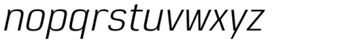 Eund Italic Font LOWERCASE