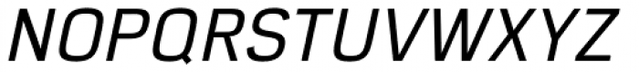 Eund Medium Italic Font UPPERCASE