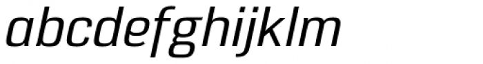 Eund Medium Italic Font LOWERCASE