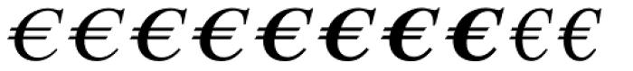 Euro Serif EF One Font UPPERCASE