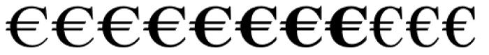 Euro Serif EF One Font LOWERCASE
