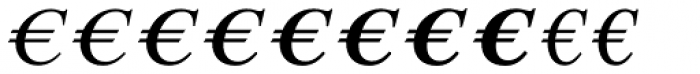 Euro Serif EF Two Font UPPERCASE