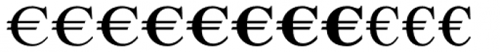 Euro Serif EF Two Font LOWERCASE